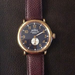 "Shinola ""Runwell"" Leather Strap Watch, 47 mm"